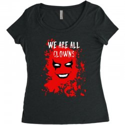 we are all clowns evil bloody Women's Triblend Scoop T-shirt | Artistshot