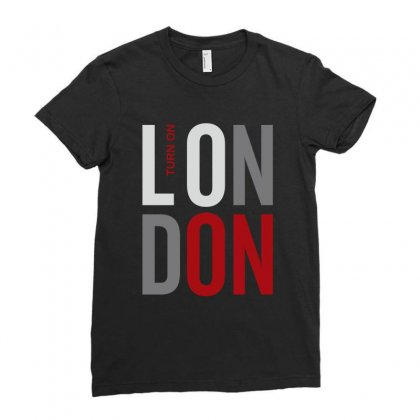London England Great Britain Ladies Fitted T-shirt Designed By Designisfun