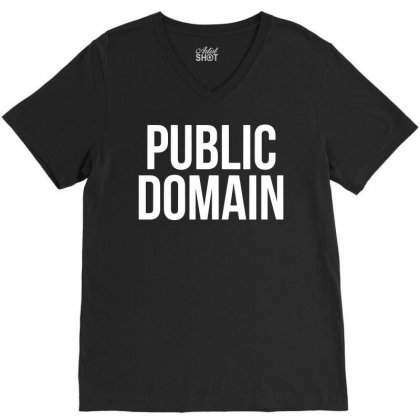 Public Domain   Funny Cool Colorful Nonsense Statament V-neck Tee Designed By G3ry