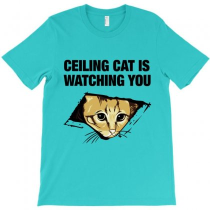 Ceiling Cat T-shirt Designed By Lotus Fashion Realm