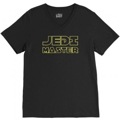 Jedi Master V-neck Tee Designed By Ruliyanti