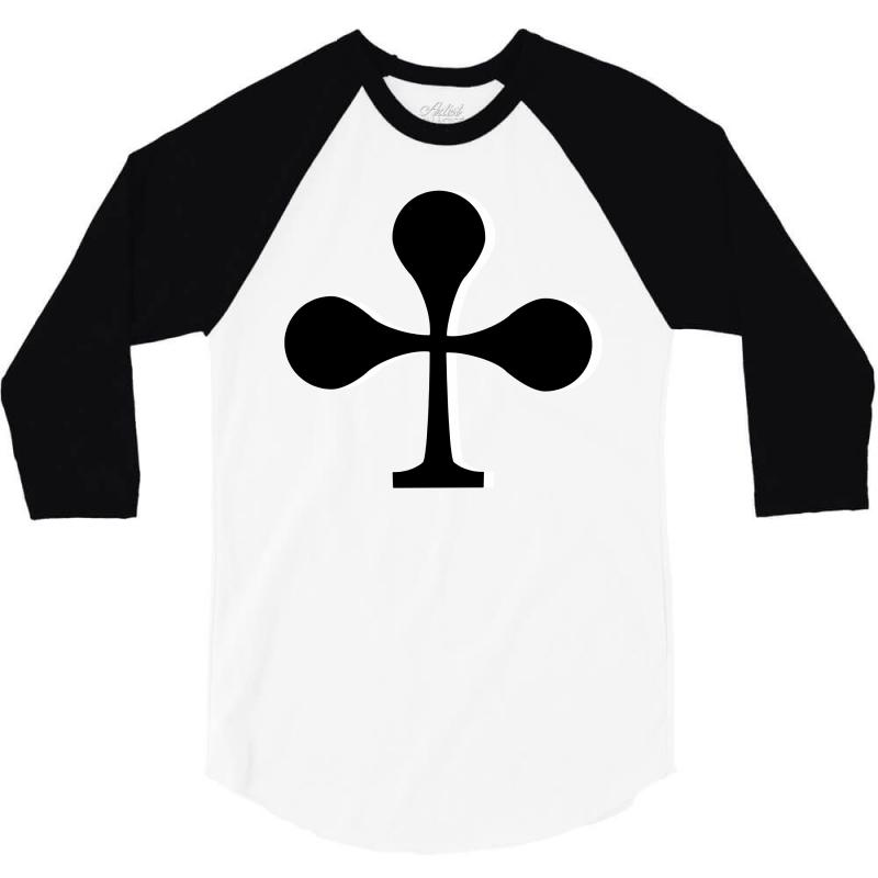 Cross Cards, Card Game, Signs 3/4 Sleeve Shirt | Artistshot
