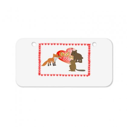 Loving Heart Bicycle License Plate Designed By Bens Creative