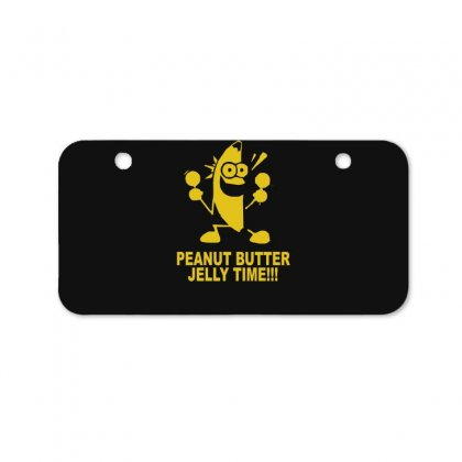 Peanut Butter Jelly Time Banana Bicycle License Plate Designed By Ruliyanti