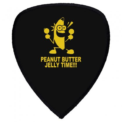 Peanut Butter Jelly Time Banana Shield S Patch Designed By Ruliyanti