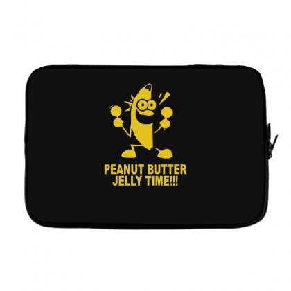 Peanut Butter Jelly Time Banana Laptop Sleeve Designed By Ruliyanti