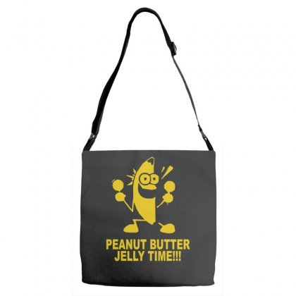 Peanut Butter Jelly Time Banana Adjustable Strap Totes Designed By Ruliyanti