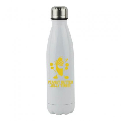 Peanut Butter Jelly Time Banana Stainless Steel Water Bottle Designed By Ruliyanti
