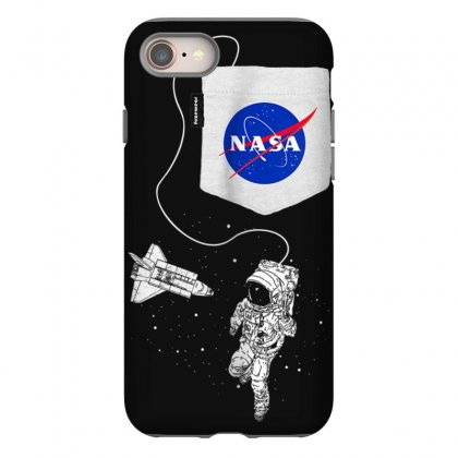 Nasa Pocket Astronaut Space Shuttle In Space T Shirt Iphone 8 Case Designed By Cuser1744