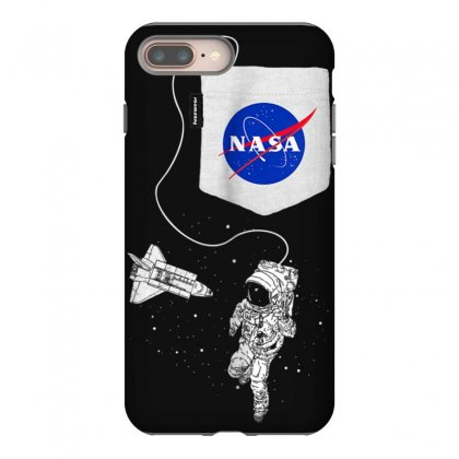 Nasa Pocket Astronaut Space Shuttle In Space T Shirt Iphone 8 Plus Case Designed By Cuser1744