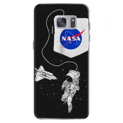 Nasa Pocket Astronaut Space Shuttle In Space T Shirt Samsung Galaxy S7 Case Designed By Cuser1744