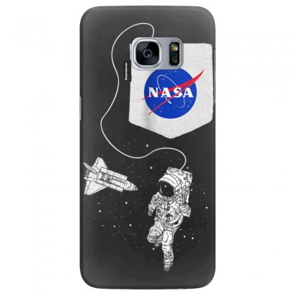 Nasa Pocket Astronaut Space Shuttle In Space T Shirt Samsung Galaxy S7 Edge Case Designed By Cuser1744