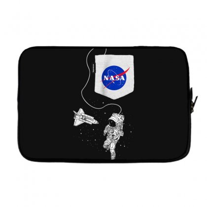 Nasa Pocket Astronaut Space Shuttle In Space T Shirt Laptop Sleeve Designed By Cuser1744