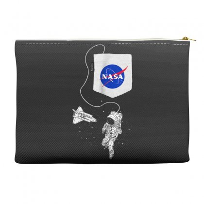 Nasa Pocket Astronaut Space Shuttle In Space T Shirt Accessory Pouches Designed By Cuser1744