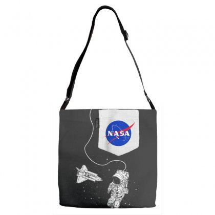 Nasa Pocket Astronaut Space Shuttle In Space T Shirt Adjustable Strap Totes Designed By Cuser1744