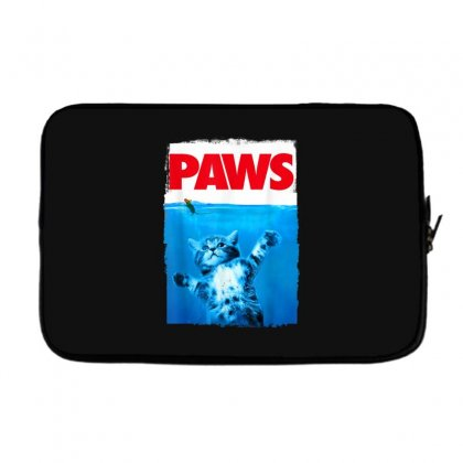 Paws Cat And Mouse Top, Cute Funny Cat Lover Parody Top T Shirt Laptop Sleeve Designed By Cuser1744