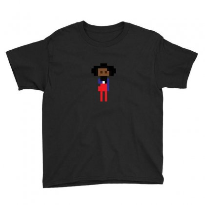 Black Girl With Coffee Cup Youth Tee Designed By As99