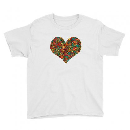 Love Heart Youth Tee Designed By Sr88