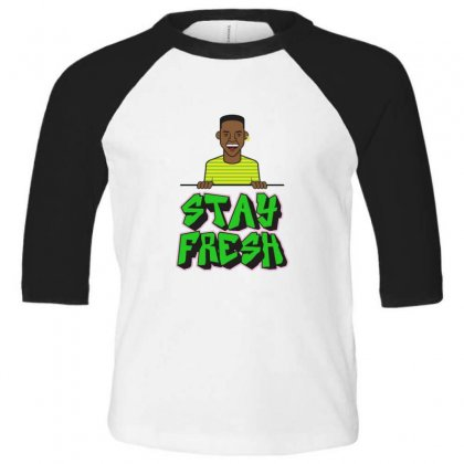 Stay Fresh Toddler 3/4 Sleeve Tee Designed By Sr88