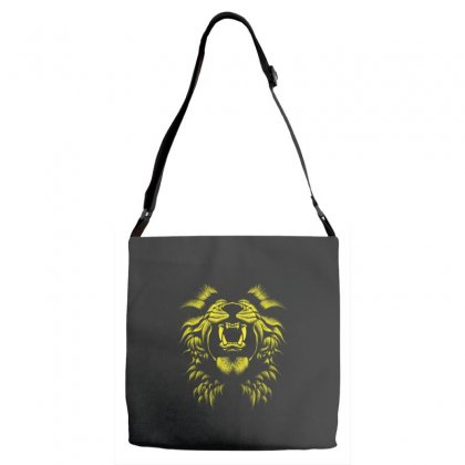 Angry Lion Adjustable Strap Totes Designed By Usr