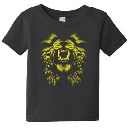 Angry Lion Baby Tee Designed By Usr
