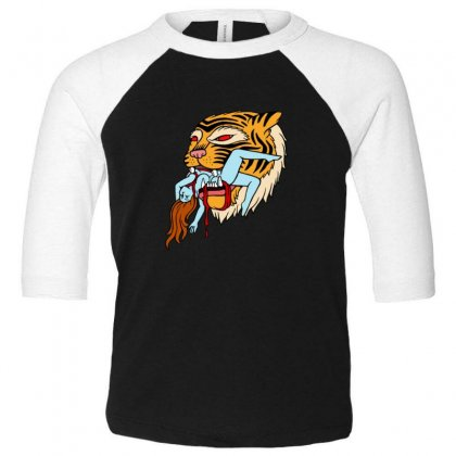 Tiger Toddler 3/4 Sleeve Tee Designed By Sr88