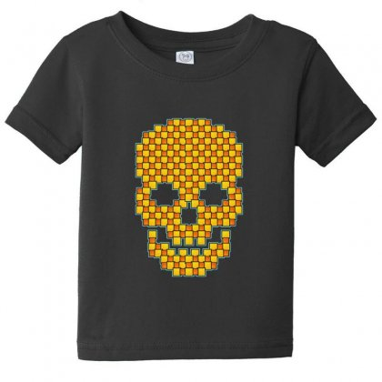 Tiled Skull Baby Tee Designed By Sr88
