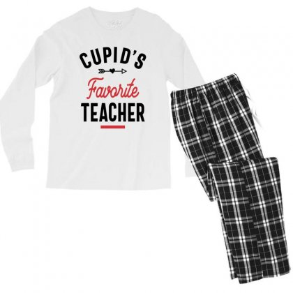 Cupids Favorite Teacher Valentines Day School Men's Long Sleeve Pajama Set Designed By Cidolopez