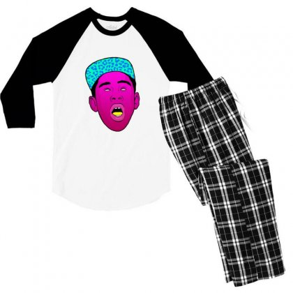 Tyler The Creator 1 Men's 3/4 Sleeve Pajama Set Designed By Sr88
