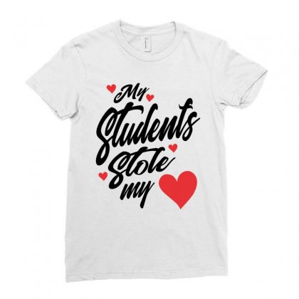 My Students Stole My Heart Teacher Valentines Day Gift Ladies Fitted T-shirt Designed By Cidolopez