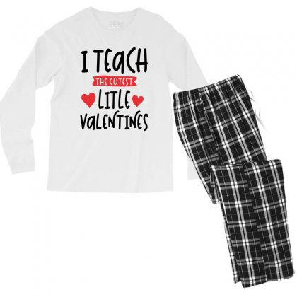 Teacher Valentines Day Cutest Valentines Men's Long Sleeve Pajama Set Designed By Cidolopez