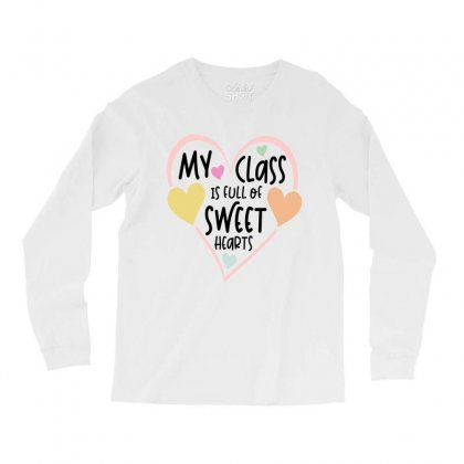 Teacher And Students Valentines Day Class Sweetheart Long Sleeve Shirts Designed By Cidolopez