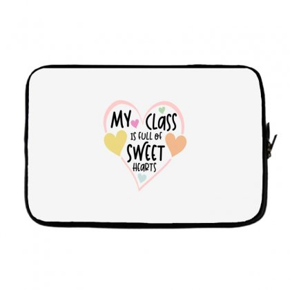 Teacher And Students Valentines Day Class Sweetheart Laptop Sleeve Designed By Cidolopez