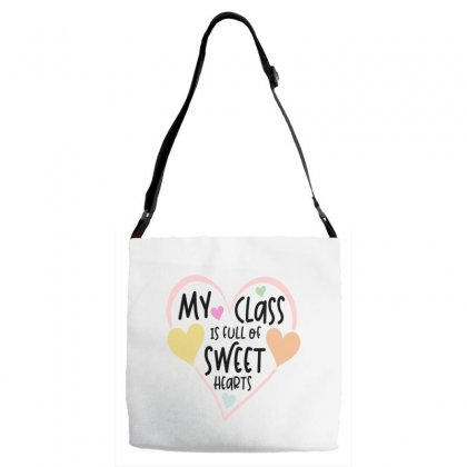 Teacher And Students Valentines Day Class Sweetheart Adjustable Strap Totes Designed By Cidolopez