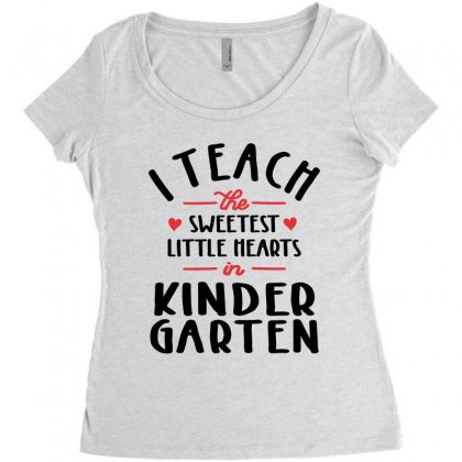 I Teach The Sweetest Little Hearts Valentines Day Teacher Women's Triblend Scoop T-shirt Designed By Cidolopez