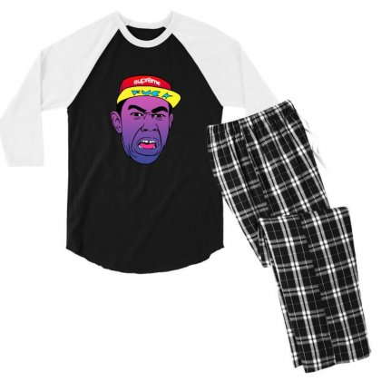 Tyler The Creator Men's 3/4 Sleeve Pajama Set Designed By Sr88