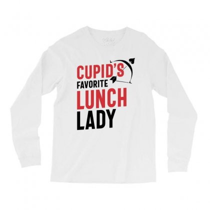 Cupid's Favorite Lunch Lady Valentine's Day Gift Long Sleeve Shirts Designed By Cidolopez