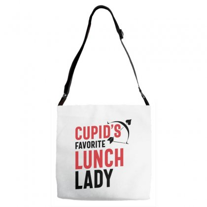 Cupid's Favorite Lunch Lady Valentine's Day Gift Adjustable Strap Totes Designed By Cidolopez