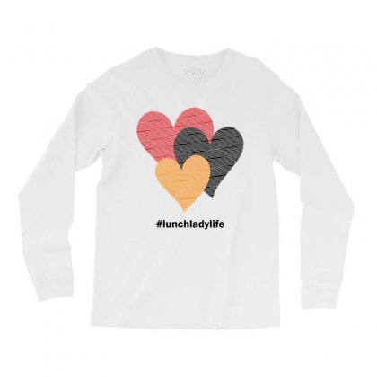 Hearts On Stripes Printed Lunch Lady Valentine Long Sleeve Shirts Designed By Cidolopez