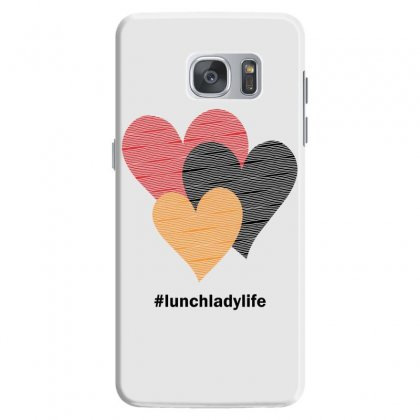 Hearts On Stripes Printed Lunch Lady Valentine Samsung Galaxy S7 Case Designed By Cidolopez
