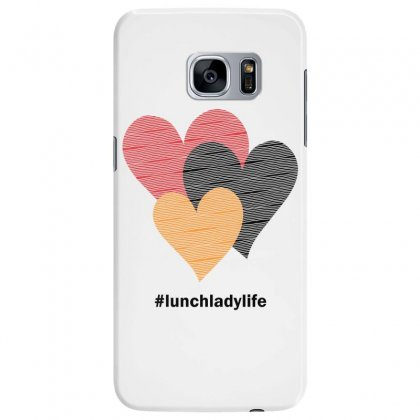 Hearts On Stripes Printed Lunch Lady Valentine Samsung Galaxy S7 Edge Case Designed By Cidolopez