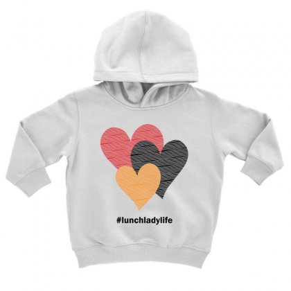 Hearts On Stripes Printed Lunch Lady Valentine Toddler Hoodie Designed By Cidolopez