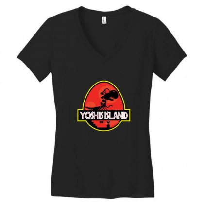 Yoshi's Island Women's V-neck T-shirt Designed By Sr88