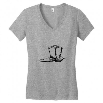 Coboy Shoes Women's V-neck T-shirt Designed By Acoy