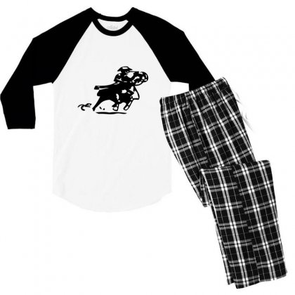 Confused Love The Title Men's 3/4 Sleeve Pajama Set Designed By Acoy