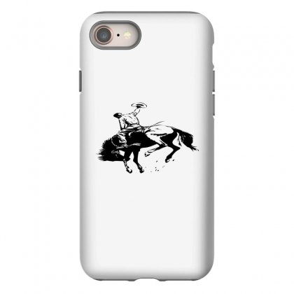 Cowboy Action Taming The Horse Iphone 8 Case Designed By Acoy