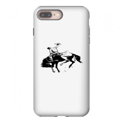 Cowboy Action Taming The Horse Iphone 8 Plus Case Designed By Acoy