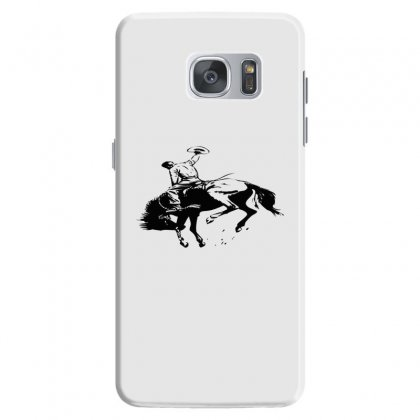 Cowboy Action Taming The Horse Samsung Galaxy S7 Case Designed By Acoy