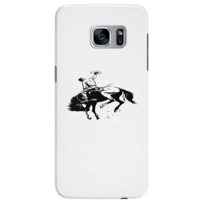 Cowboy Action Taming The Horse Samsung Galaxy S7 Edge Case Designed By Acoy
