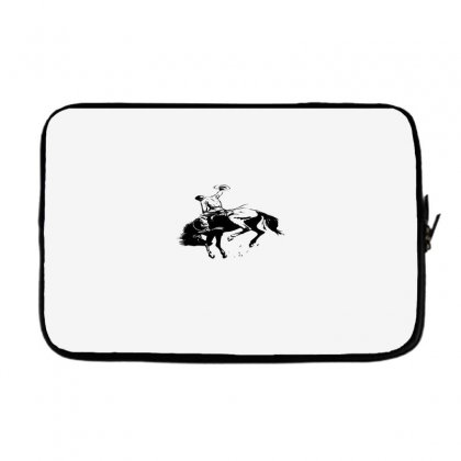 Cowboy Action Taming The Horse Laptop Sleeve Designed By Acoy